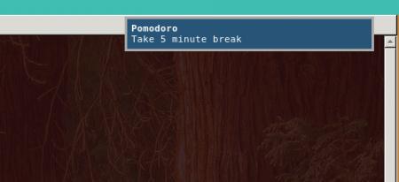 Pomodoro End notification