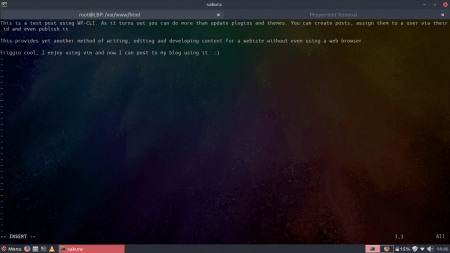 Editing from WP-CLI in Linux