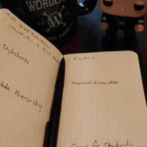 Create outline in pocket notebook