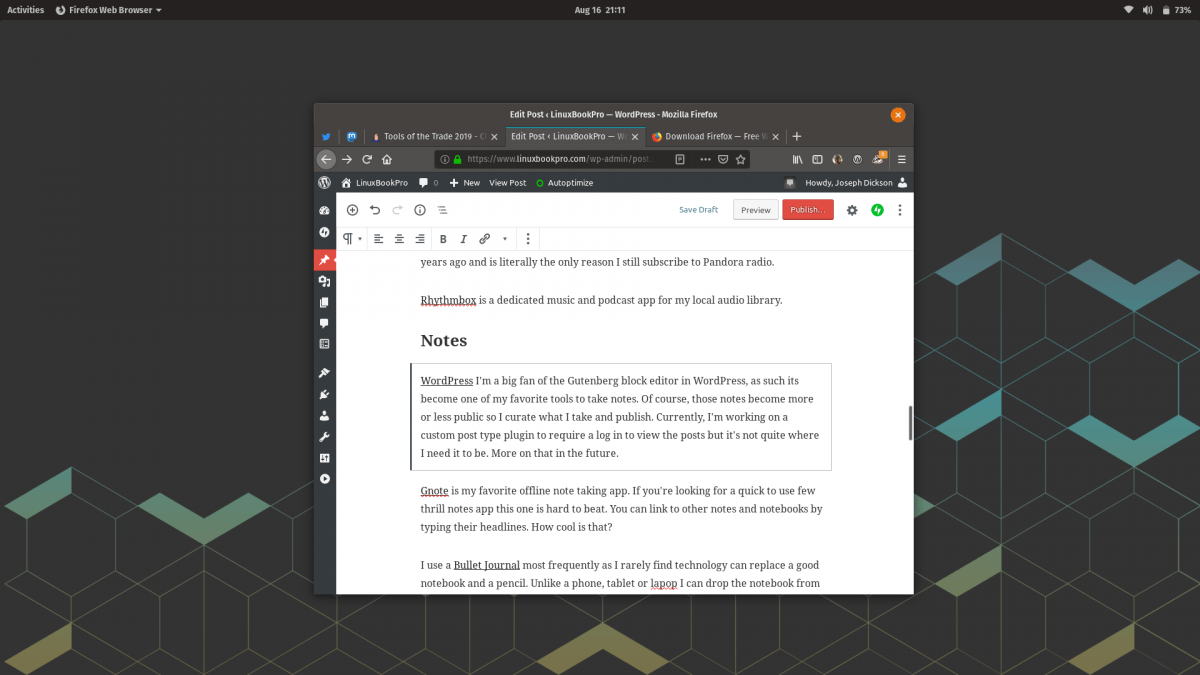 Gutenberg block editor for WordPress