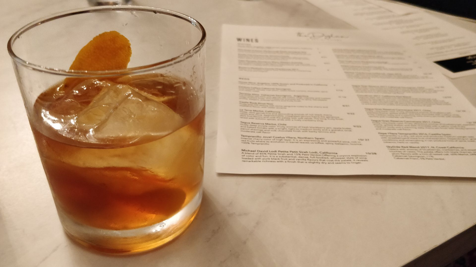 Old Fashioned at The Dylan in Brea