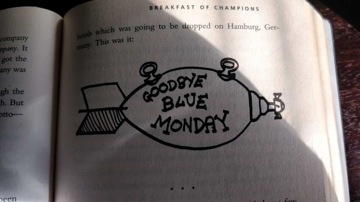 Goodbye Blue Monday Illustration from Breakfast of Champions