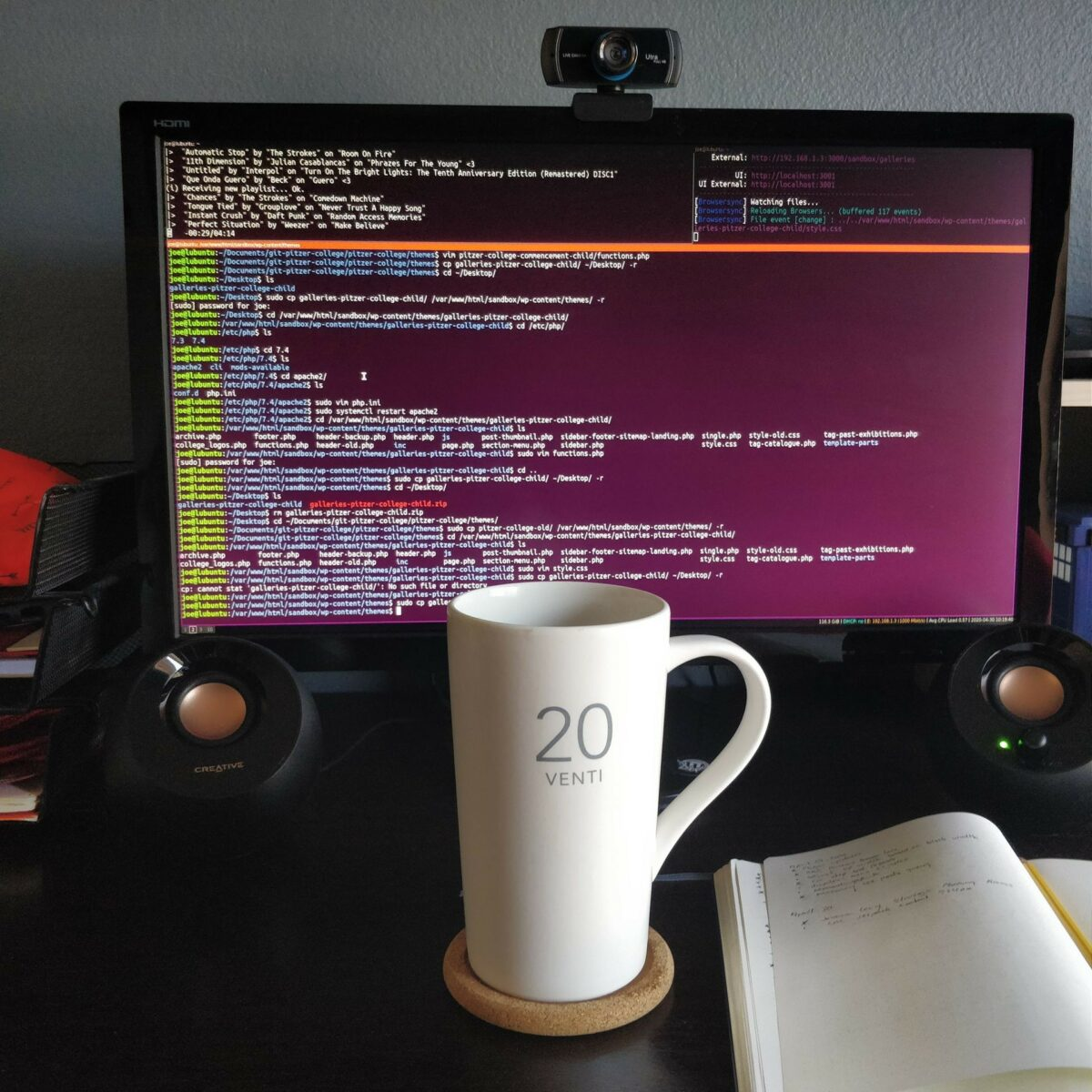 Large coffee mug on my desk