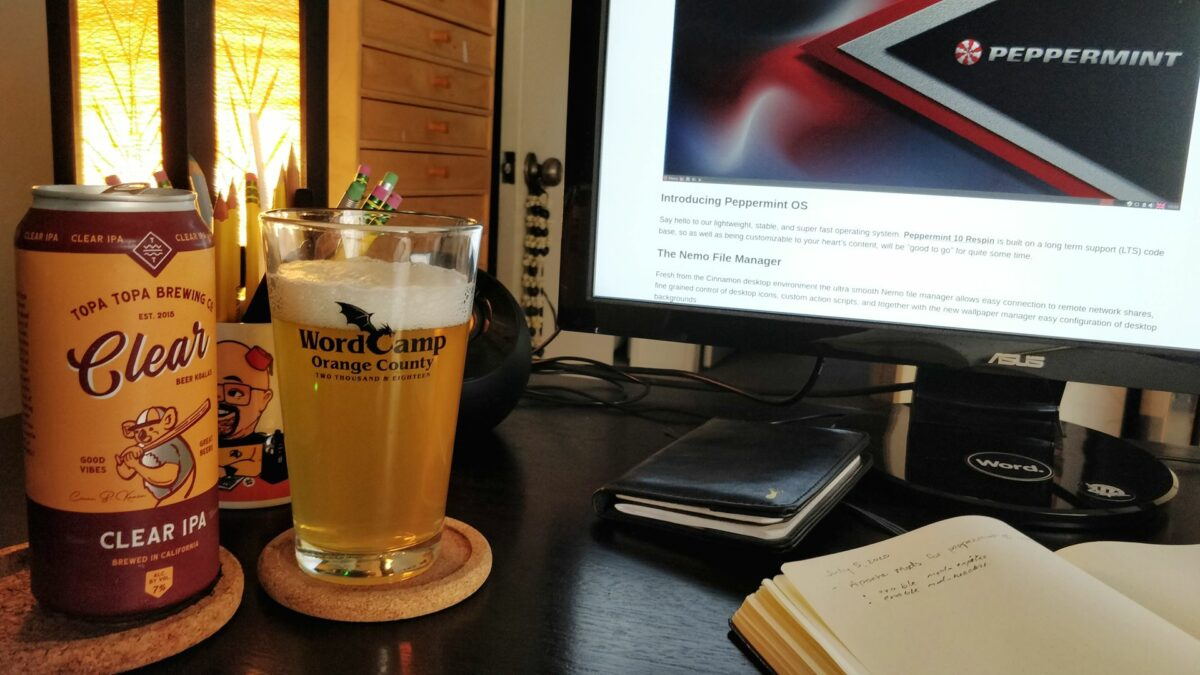 Beer at my computer desk