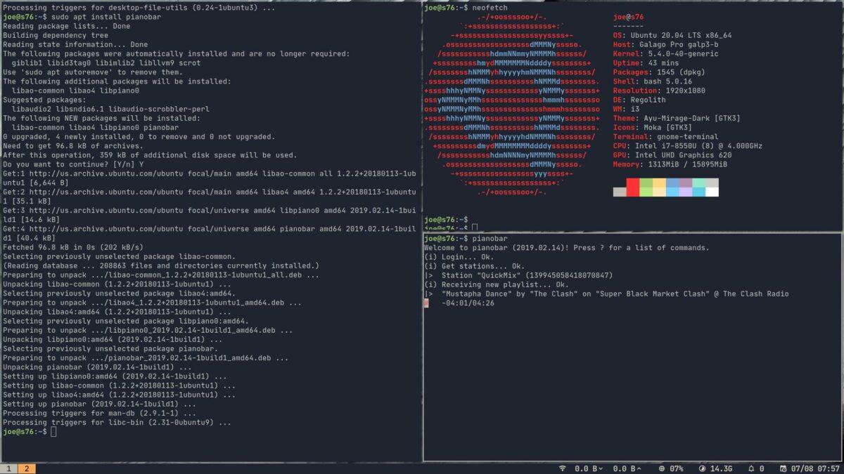 i3wm in Regolith Linux