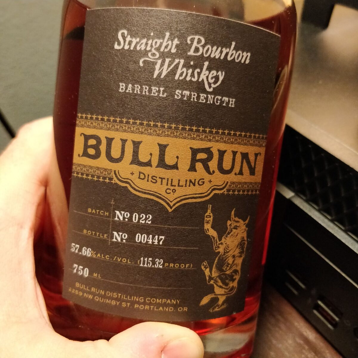 Bull Run Distilling Co Straight Bourbon Whiskey
